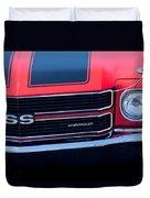 1970 Chevrolet El Camino Ss Grille Emblem Duvet Cover