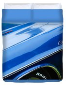 1970 Dodge Challenger Rt Convertible Emblems Duvet Cover