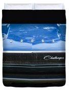 1970 Dodge Challenger Rt Convertible Grille Emblem -0545c Duvet Cover
