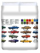 1970 Dodge Coronet Models And Colors Duvet Cover