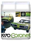 1970 Dodge Coronet R/t Duvet Cover