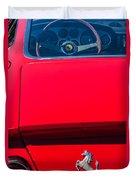 1970 Ferrari 365 Gtb-4 Daytona Berlinetta Taillight Emblem -1482c Duvet Cover