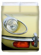 1970 Jaguar Xk Type-e Headlight Duvet Cover