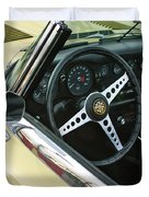 1970 Jaguar Xk Type-e Steering Wheel Duvet Cover