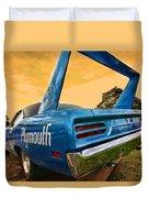 1970 Plymouth Road Runner Superbird Duvet Cover