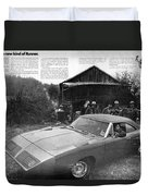 1970 Plymouth Superbird - Announcing A New Kind Of Runner Duvet Cover