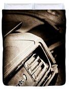 1970 Pontiac Barracuda Cuda Taillight Emblem Duvet Cover