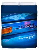 1970 Toyota Land Cruiser Fj40 Hardtop Emblem Duvet Cover