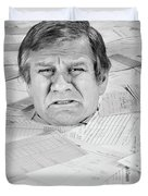 1970s Distressed Man Up To His Neck Duvet Cover