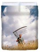 1970s Man Farmer Field Hand Wearing Duvet Cover
