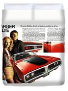 1971 Dodge Charger Rallye Duvet Cover