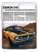 1971 Dodge Demon 340 Duvet Cover