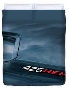 1971 Dodge Hemi Challenger Rt 426 Hemi Emblem Duvet Cover
