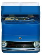 1971 Fiat Dino 2.4 Grille Duvet Cover by Jill Reger