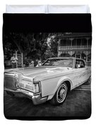 1971 Lincoln Continental Mark IIi Painted Bw   Duvet Cover