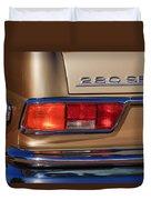 1971 Mercedes-benz 280se 3.5 Cabriolet Taillight Emblem Duvet Cover
