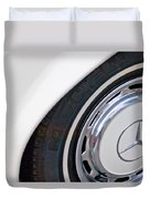 1971 Mercedes-benz Wheel Emblem Duvet Cover