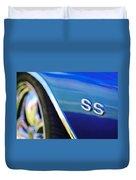 1972 Chevrolet Chevelle Ss Emblem Duvet Cover
