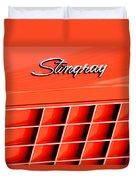 1972 Chevrolet Corvette Stingray Emblem 3 Duvet Cover