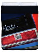 1972 Chevrolet Nova Ss Taillight Emblem -0355c Duvet Cover