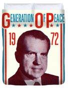 1972 Nixon Presidential Campaign Duvet Cover