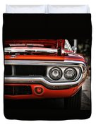 1972 Plymouth Road Runner Duvet Cover