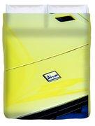 1973 Ferrari Dino 246 Gts Hood Emblem -0817c Duvet Cover