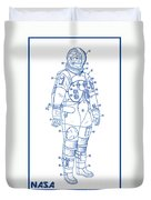 1973 Nasa Astronaut Space Suit Patent Art 2 Duvet Cover