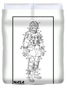 1973 Nasa Astronaut Space Suit Patent Art 3 Duvet Cover