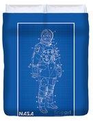 1973 Nasa Astronaut Space Suit Patent Art Duvet Cover