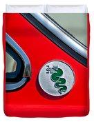 1974 Alfa Romeo Gtv Emblem  Duvet Cover
