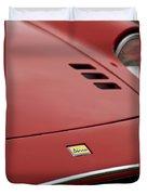1974 Ferrari Dino 246gts Hood Emblem Duvet Cover