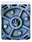 1974 Maserati Merak Wheel Emblem Duvet Cover