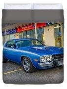1974 Plymouth Roadrunner Duvet Cover