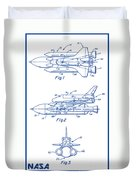 1975 Nasa Space Shuttle Patent Art 2 Duvet Cover