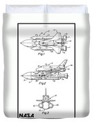 1975 Nasa Space Shuttle Patent Art 3 Duvet Cover