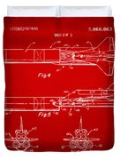 1975 Space Vehicle Patent - Red Duvet Cover