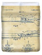 1975 Space Vehicle Patent - Vintage Duvet Cover