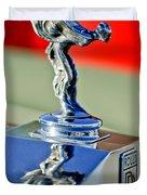 1976 Rolls Royce Silver Shadow Hood Ornament Duvet Cover