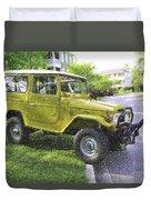 1976 Toyota Landcruiser Duvet Cover