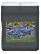1977 Corvette Black Duvet Cover