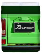 1977 Ford Bronco Taillight Duvet Cover