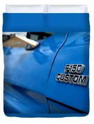 1977 Ford F 150 Custom Name Plate Duvet Cover by Brian Harig