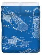 1980 Soccer Shoes Patent Artwork - Blueprint Duvet Cover