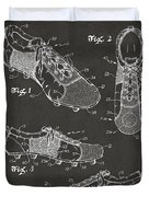 1980 Soccer Shoes Patent Artwork - Gray Duvet Cover