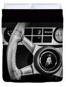 1982 Lamborghini Countach 5000s Steering Wheel Emblem -1549bw Duvet Cover
