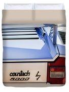 1982 Lamborghini Countach 5000s Taillight Emblem -0453c Duvet Cover