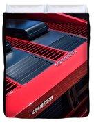 1984 Ferrari 512 Bbi By Pininfarina Rear Emblems -0822c Duvet Cover