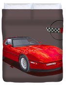 1986 Corvette Duvet Cover