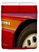 1988 Alfa Romeo Spider Quad Emblem Duvet Cover